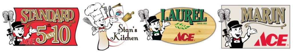 Our stores - Standard 5&10 Ace and Stan's Kitchen, Laurel Ace and Marin Ace