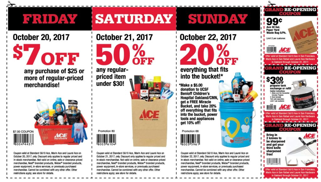 Coupons for October 20 21 22