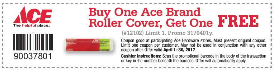 Free Ace Brand Paint Roller Offer