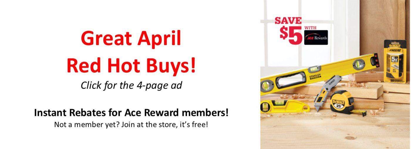Great April Red Hot Buys