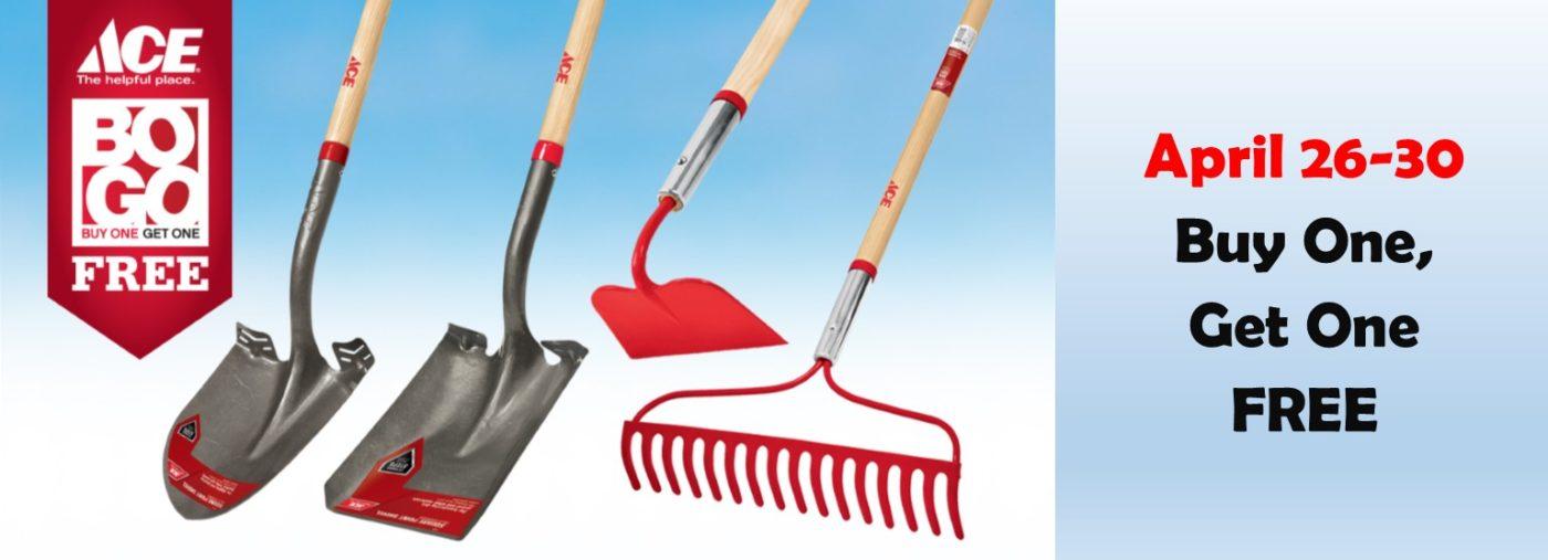 BOGO sale on long handled tools