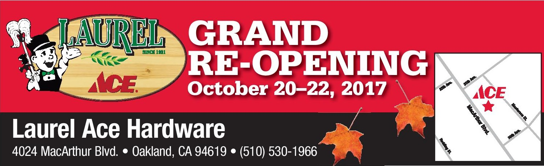 Grand Reopening Celebration 10/20-22