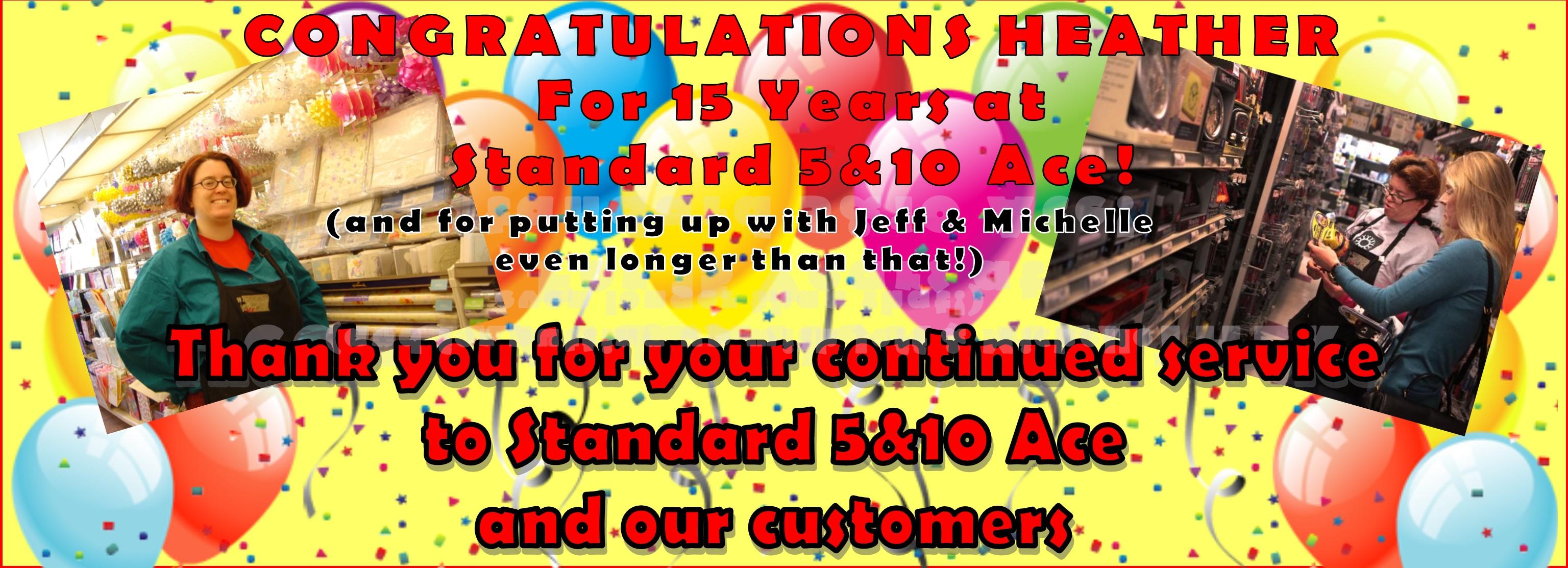 Congratulations Heather!