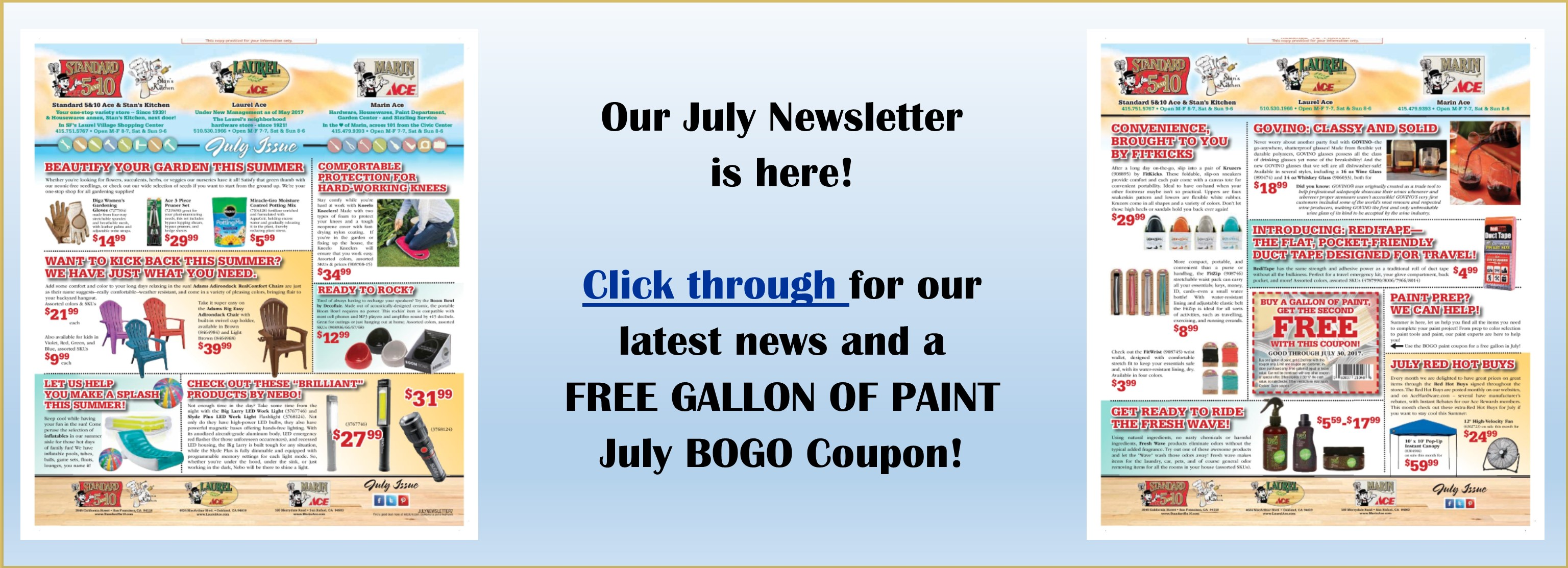 Read our July Newsletter online