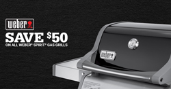 Save $50 on Weber Spirit Gas Grills