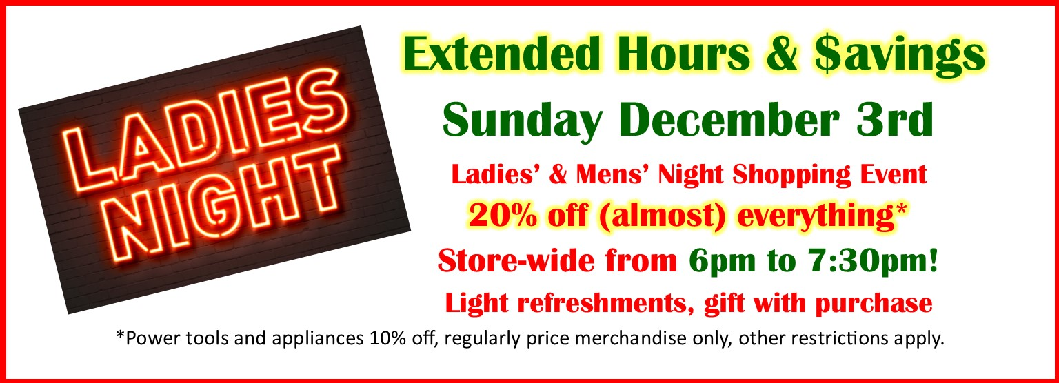 Ladies' Night December 3