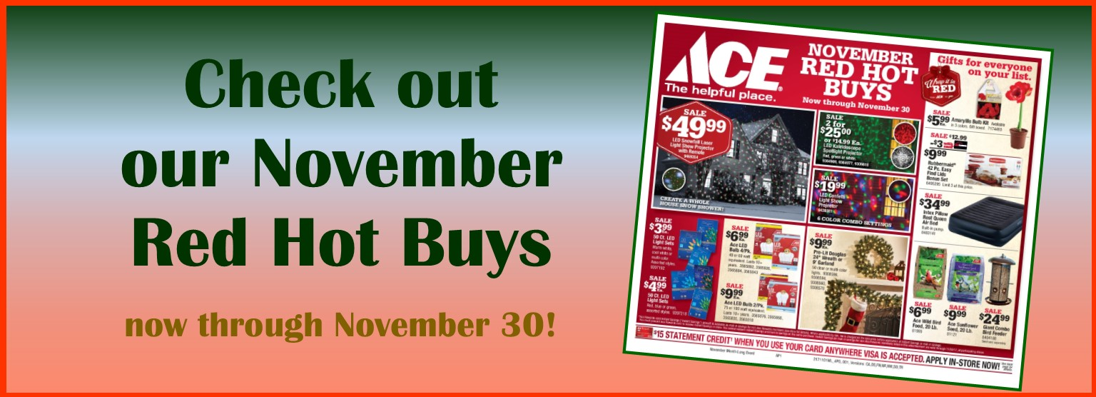 Check out our November Red Hot Buys