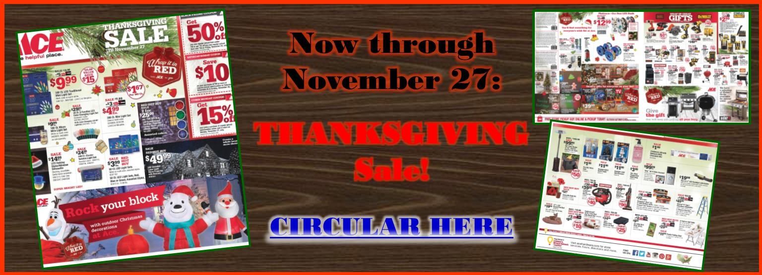 Slider November Thanksgiving Event