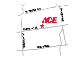 San Francisco 5&10 Ace Hardware Map