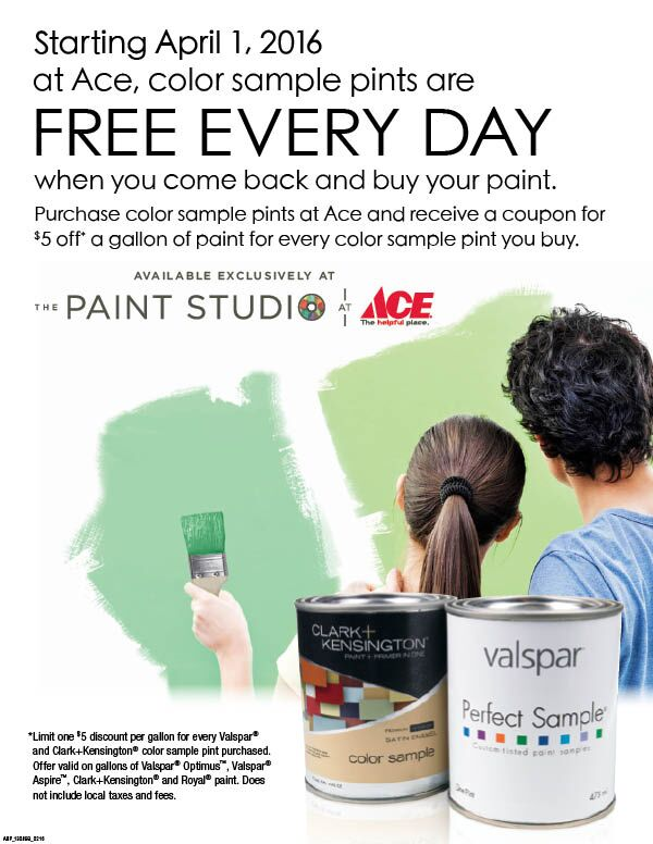 Free Pints of Paint At Ace Standard 5&10 SF