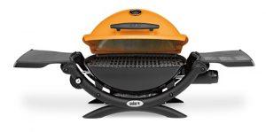 Weber Q 1200 LP Orange Gas Grill