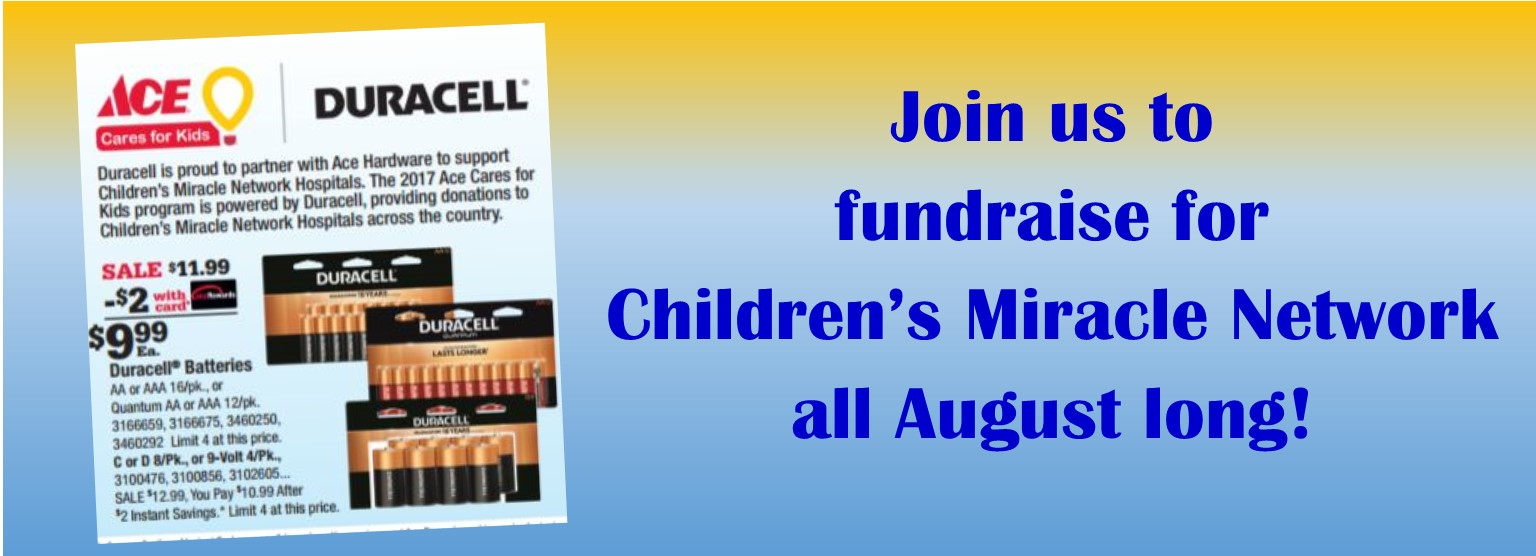 August fundraising for CMN