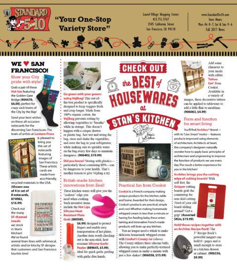 October/November Stan's Kitchen/Standard5&10 Newsletter