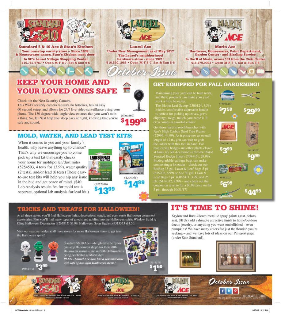 October Newsletter pg1