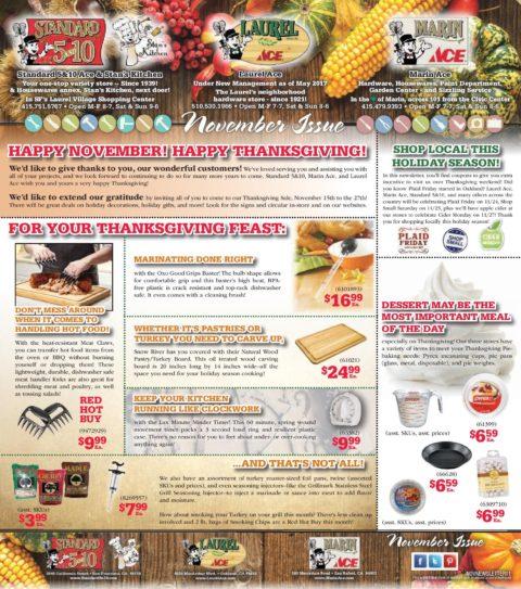 November 2017 3-Store Newsletter
