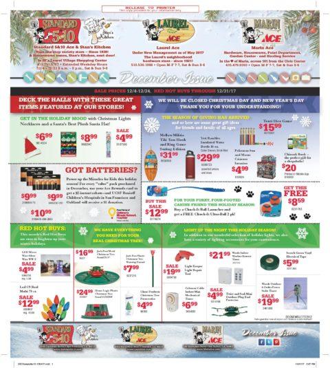 December 2017 3-Store Newsletter