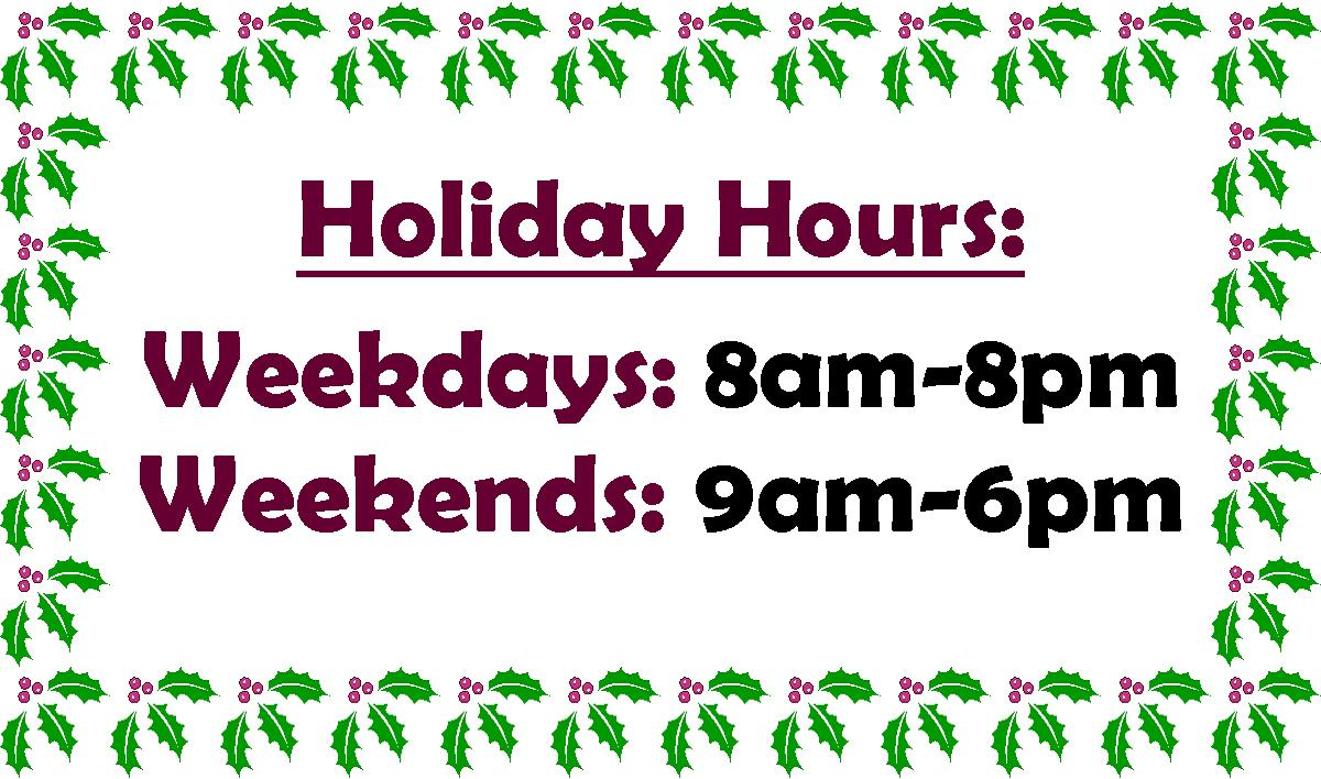 SF Extended Holiday Hours