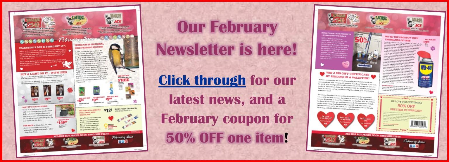 Slider February Newsletter