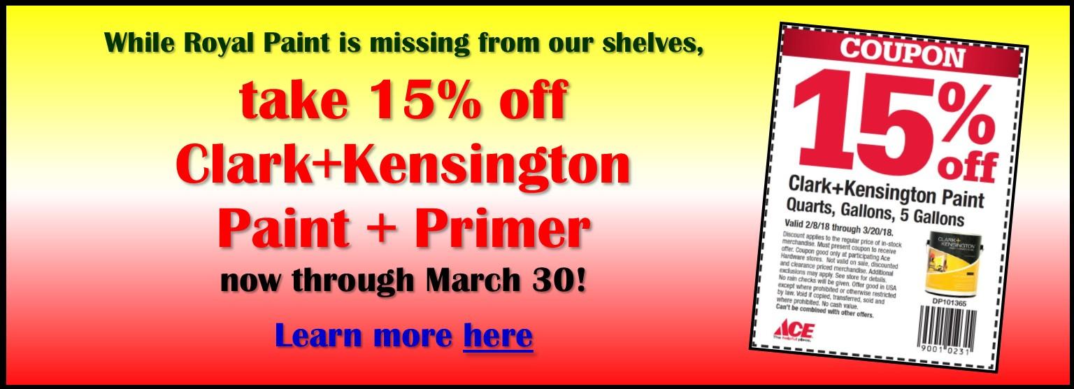 Slider 15% off Clark+Kensington
