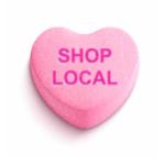 Shop Local Conversation heart