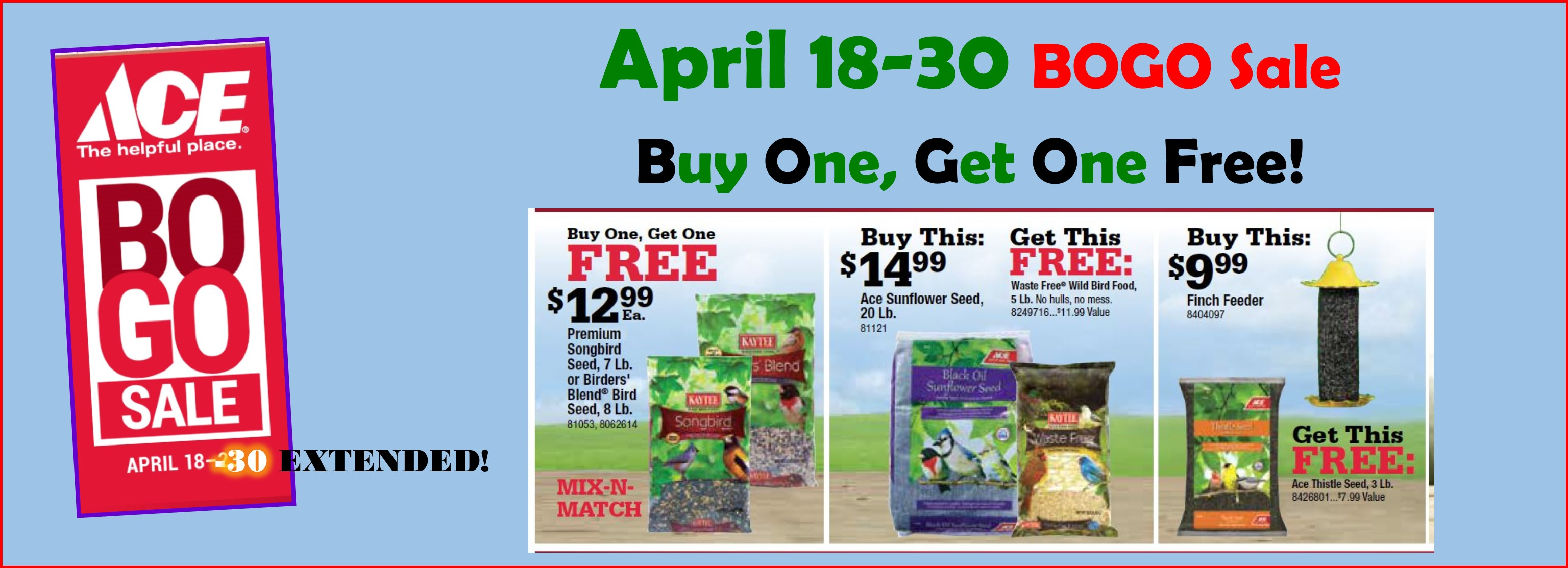 BOGO Sale April 18-30