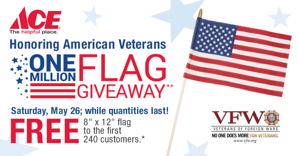 One Million Flag Giveaway May 26