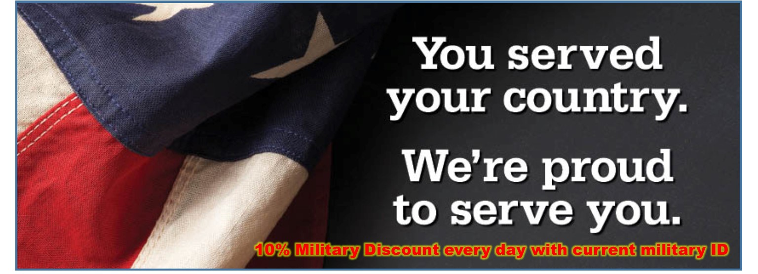 Military Discount Year-Round