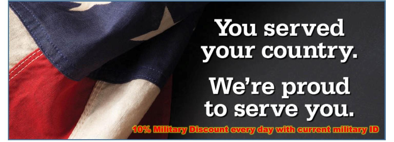 Military Discount Year-Round