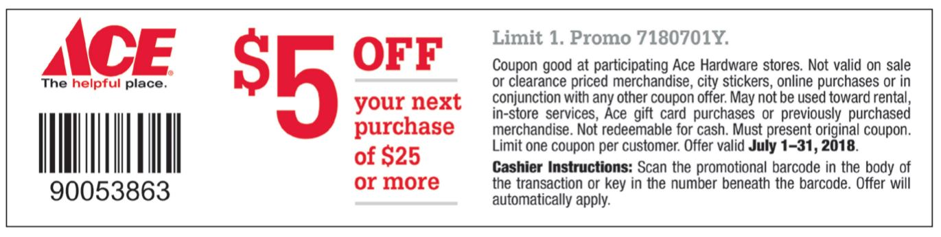 July $5 off coupon