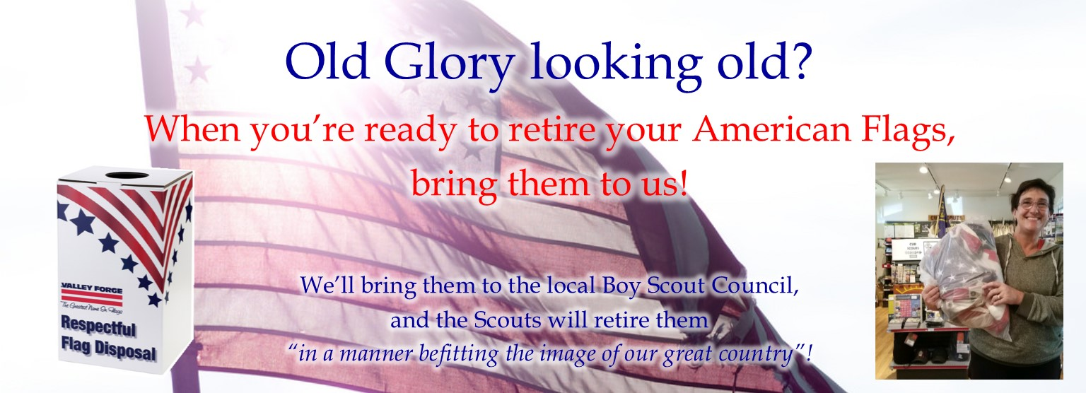 We respectfully recycle your old Old Glory