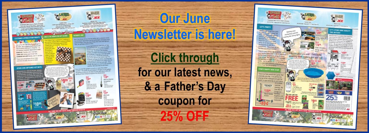 June Newsletter 2018