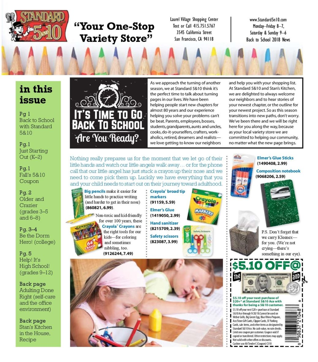Page 2 Back to School Newsletter Standard 5&10 Ace August 2018