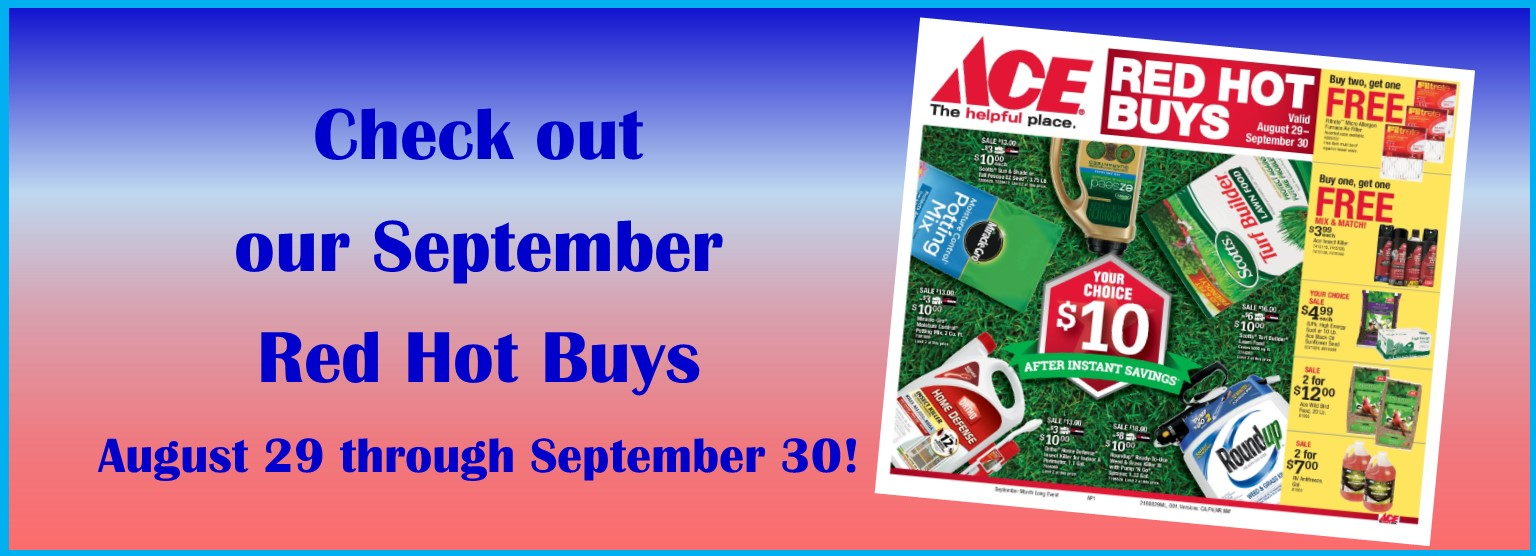 September Red Hot Buys