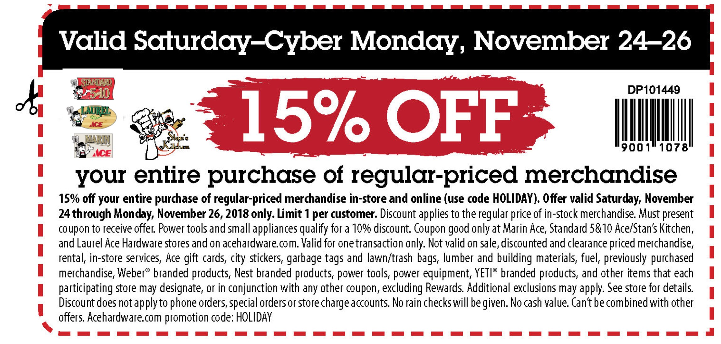 Sat-Mon all stores Coupon