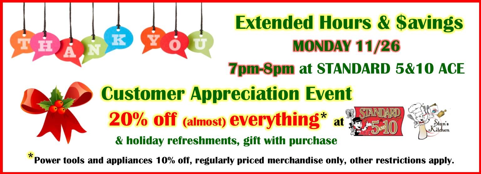 Slider holiday customer appr nights x3