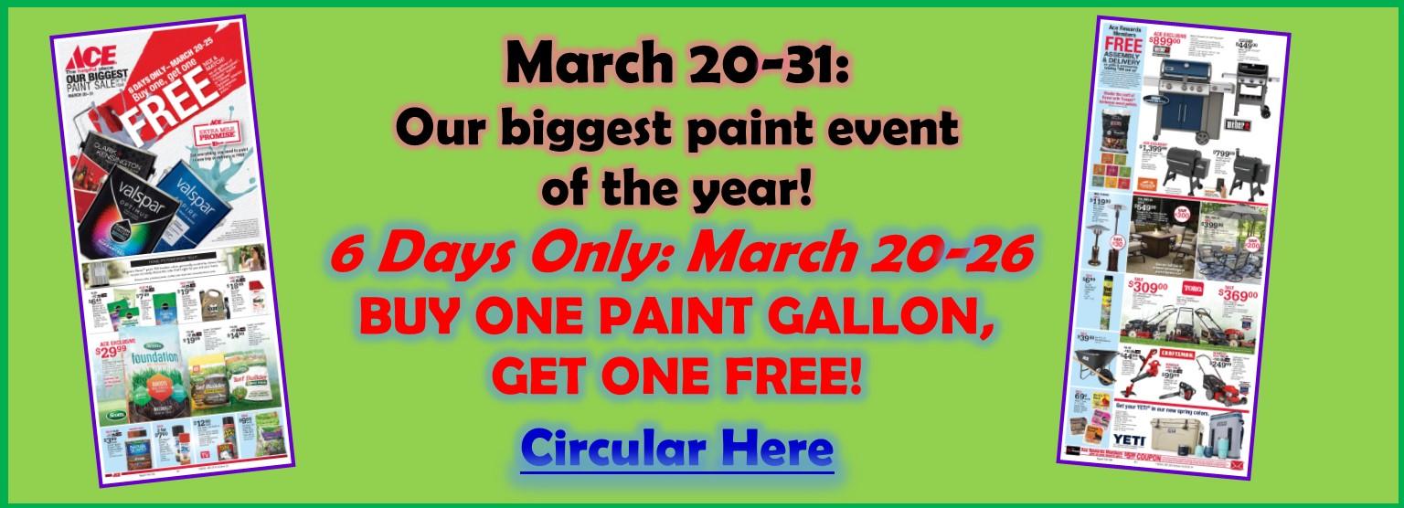 March Paint BOGO Sale