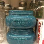 blue retro mason jars