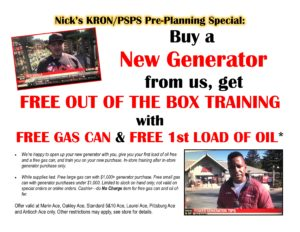 Generator training special