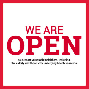 We are open to support vulnerable neighbors