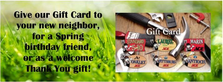 slider spring gift card