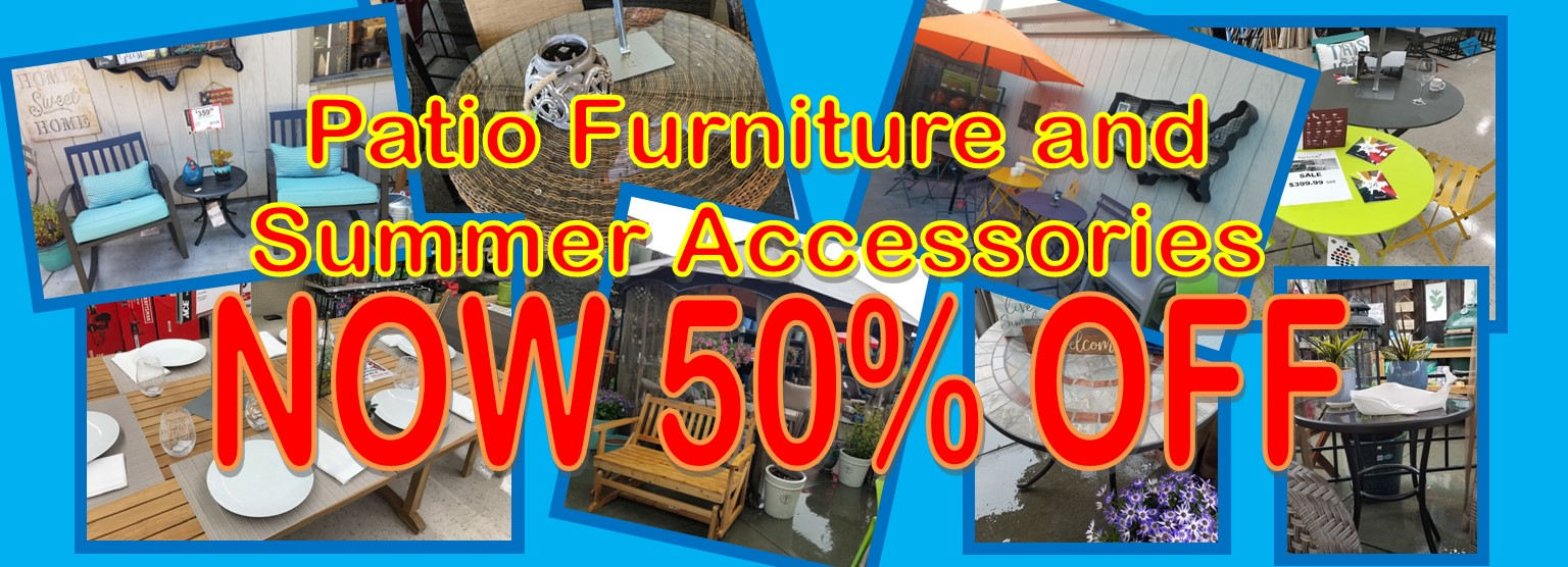 50% off select outdoor furnishings