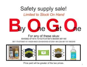 BOGO safety sale