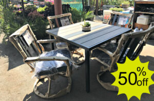 50% off remaining outdoor furniture